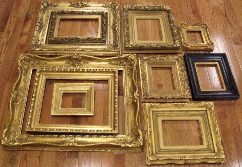 Antique picture frames restored
