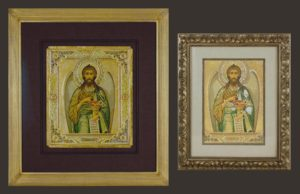 Russian Icon protected after restoration