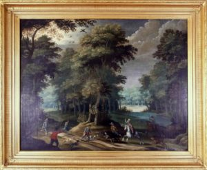 Oil painting restoration, before and after example