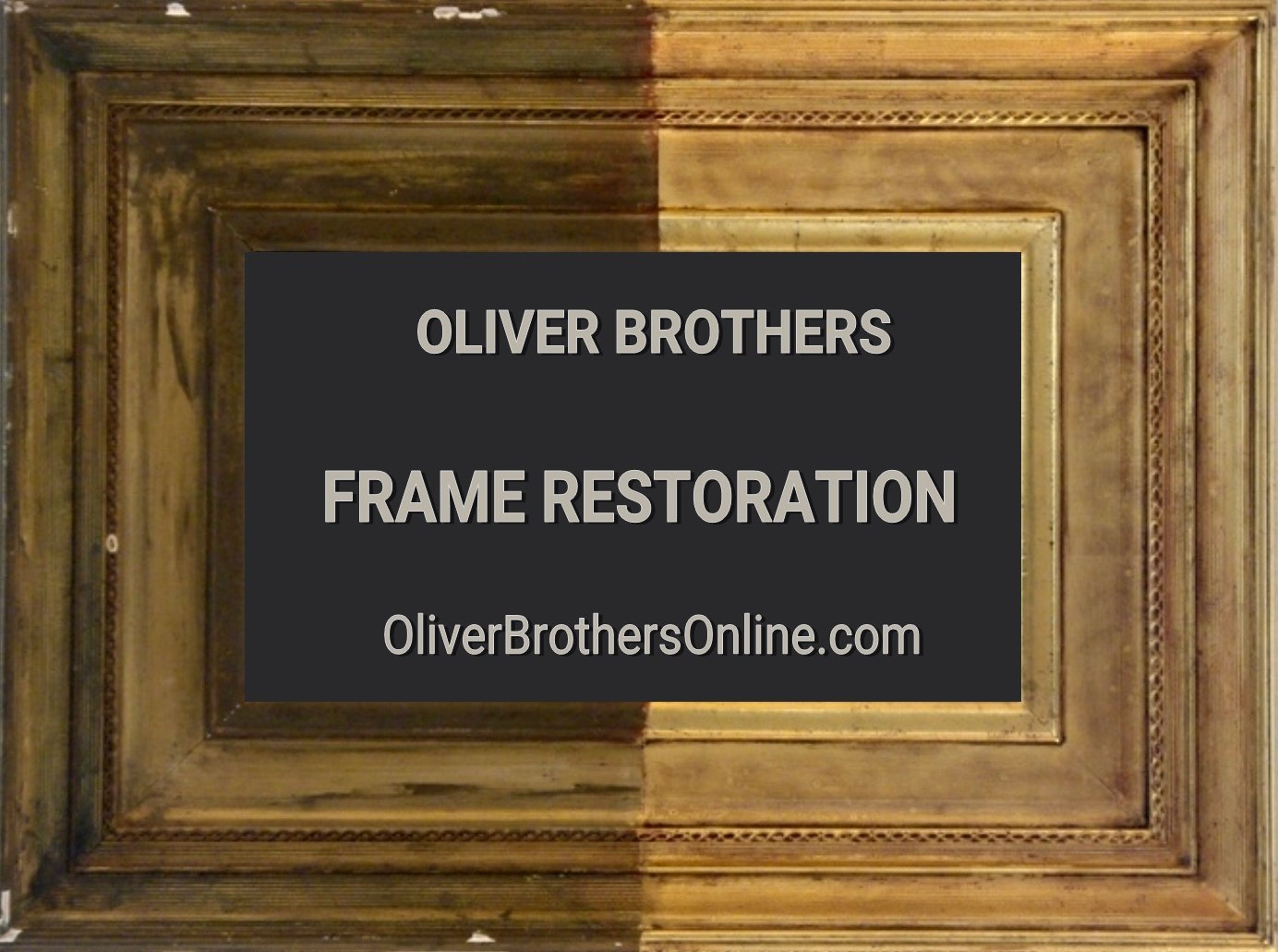 an example of gold leaf picture framere restoration