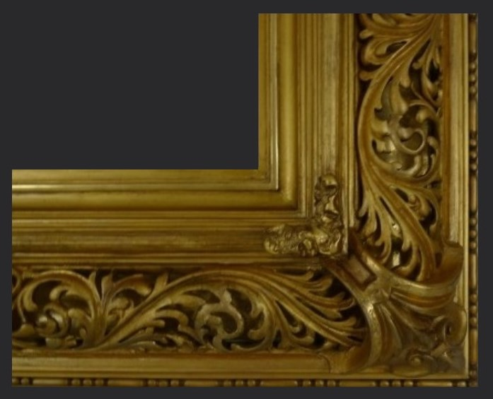 Restored italian picture frame | picture frame restoration and conservation treatment cleaning