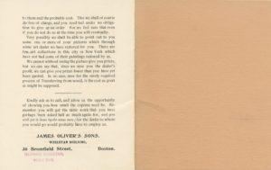 Art restoration brochure circa 1900's
