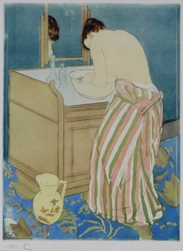 Sign print by Mary Cassatt was restored and framed by Oliver Brothers in Boston