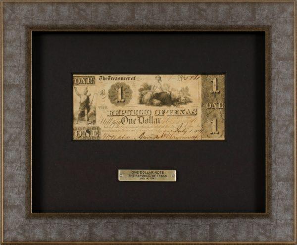 Custom frame for a One Dollar Bill